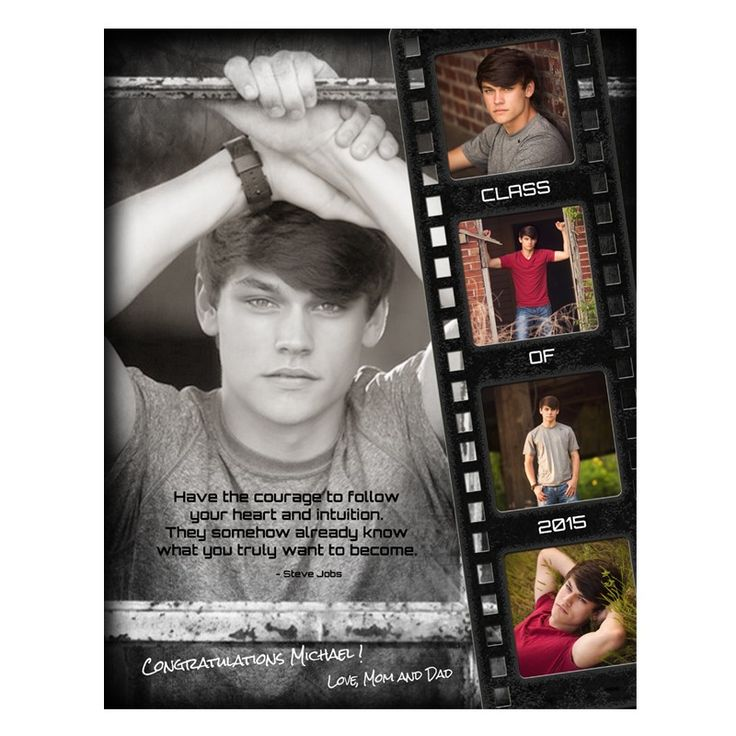 Ashe Design | Yearbook Ad full | Film Strip Grunge. Yearbook Ad Designs are an amazing up-sell for seniors or the perfect add-on for booking their session with you! Either way, parents will love these fun and professionally designed tributes to their teens.  Everyone will be talking about these amazing ads and you'll see the results in next year's appointments ... all from adding one cool new product to your offering! It takes minutes to design and costs nothing to produce!