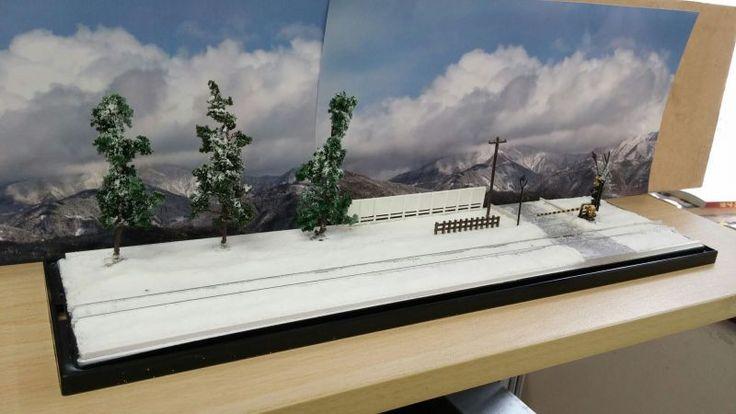 Nゲージオーダージオラマ・雪景色の風景  - e-station