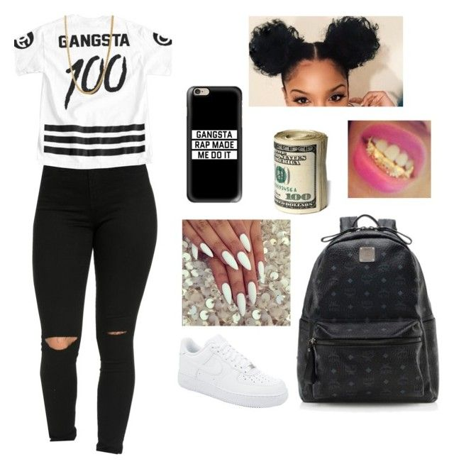 """✌"" by kyaathaatrillest ❤ liked on Polyvore featuring NIKE, Casetify and MCM"