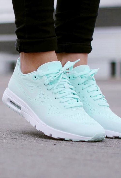 Nike Air Max 1 Ultra Moire: Light Tiffany Blue I want these soooooooo bad …