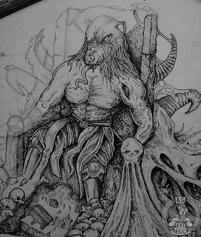 WEBSTA @ kg_art_design - Raaat king is coming ! With @empirewarningLot of dots here O.o#empirewarning #artwork #coverartwork #illustration #inking #bandart #followme #skulls #pointlism #darkart #rysunek #darkartists #arts_help #artcollective #groovemetal #illustratedmonthly #blackwork #grindcore #metalcore #deathcore #heavymetal #deathmetal #blackmetal #kgartdesign #dailyart #band #art #artcollective #instaartist #artoftheday