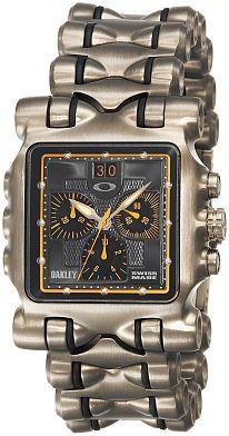 Men's 10-299 OMM Titanium Yellow Dial Watch  by Oakley