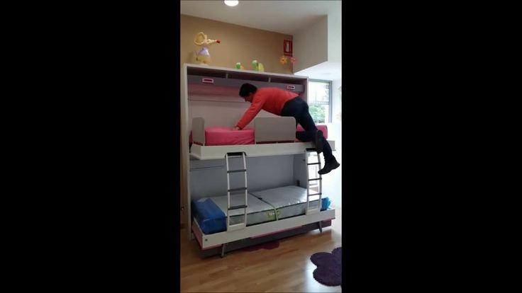 96 best dormitorios juveniles e infantiles compactos - Muebles literas abatibles ...