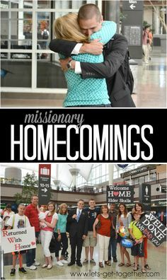 Missionary Homecomings from Let's Get Together - tips for welcoming, remembering, and adjusting for you and your missionary. Includes great list of talks/articles for adjusting after a mission. #missionary #lds #missionarymom www.lets-get-together.com