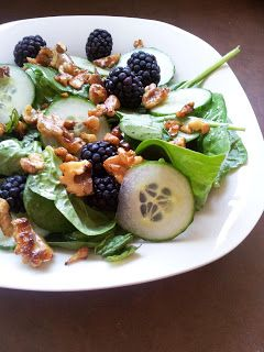Blackberry Cucumber Salad with Agave glazed Walnuts, Mint and Lime ...