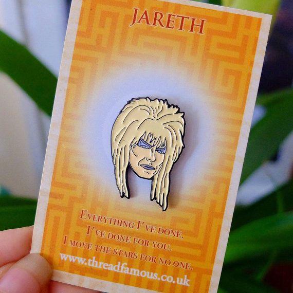 David Bowie Jareth enamel pin badge. The Labyrinth Goblin King in lapel pin…