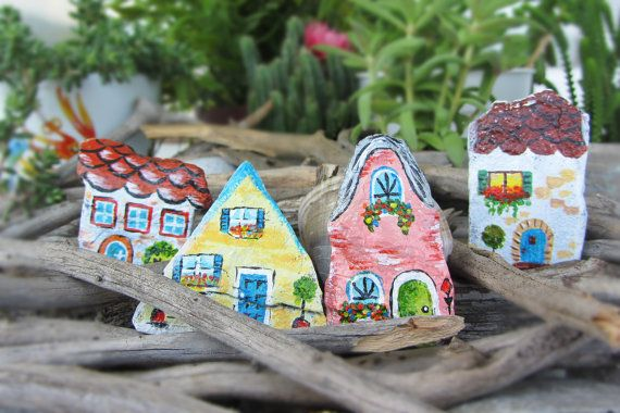 Home sweet home magnets 4 piece decorative by CanitinLivingStones