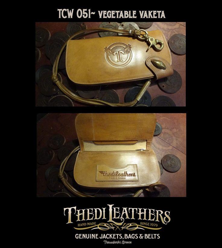 #thedileathers #leather #handmade #chainwallet #vaketa #vegetablevaketa #TCW051 #thediwallet www.thedileathers.com