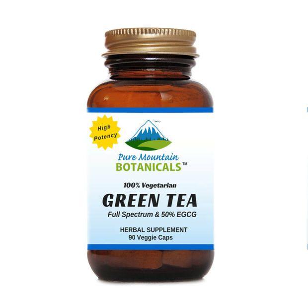 Green Tea Capsules - 90 Organic Kosher Veggie Caps