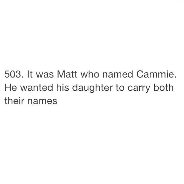 That S How Cammie Got Her Name Cameron Ann Morgan