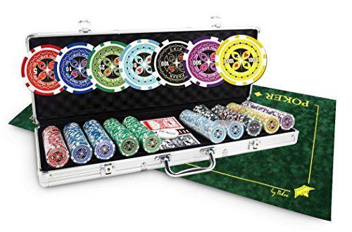 Pack Ultimate Poker 500 jetons + Tapis en suédine Texas Poker vert – SOLDES !: Pack de poker incluant 1 mallette Ultimate Poker Chips de…