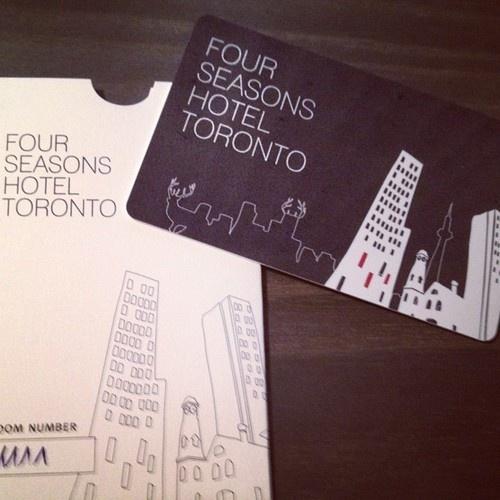 Four Seasons Hotel Toronto Electronic Key Card.