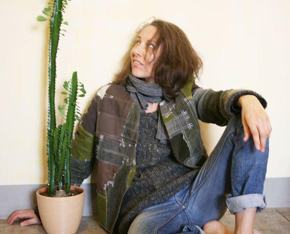 Hippie slyle jacket от DenimAge на Etsy