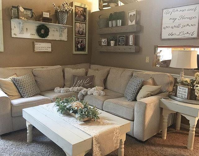 "1,758 Likes, 15 Comments - Ashley Furniture HomeStore (@ashleyhomestore) on Instagram: ""Our Salonne sectional is looking right at home in @thebannergirls's cozy living room.  Shop it…"""