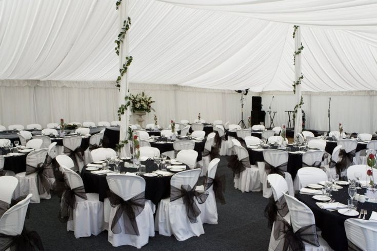 black and ivory tables