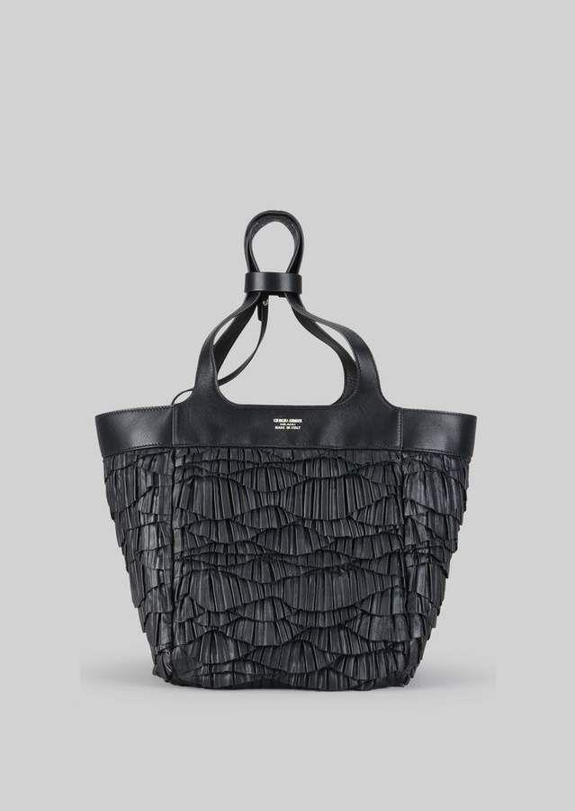 8501b82e68c3 Giorgio Armani Tote Bag In Napa Leather