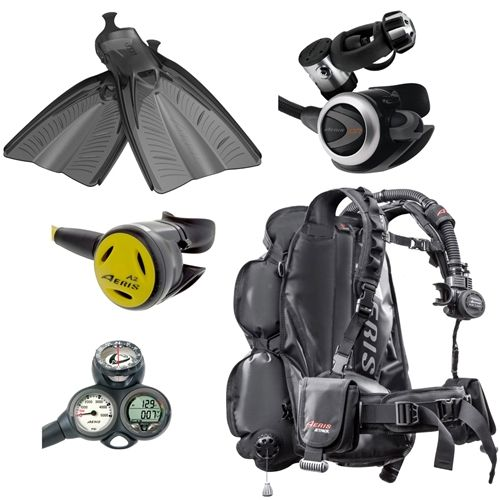 New aeris dive gear package from leisurepro gears for Scuba dive equipment