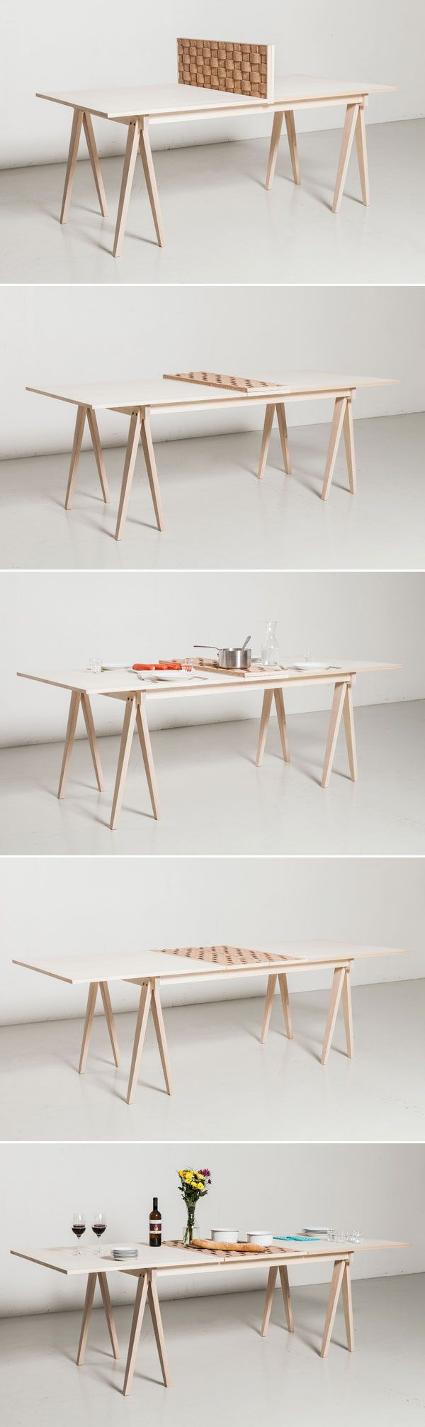 Está mesa pode oferece um uso duplo, onde um lado fica independente do outro