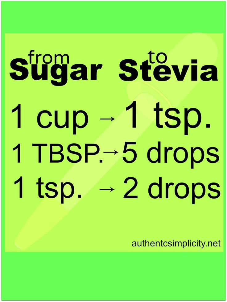 How to Substitute Stevia for Sugar
