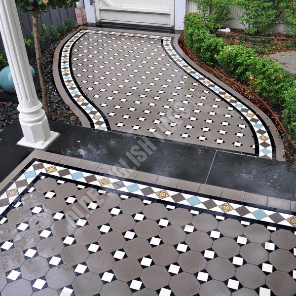 Olde English Tiles Australia - Olde English III pattern with Norwood border