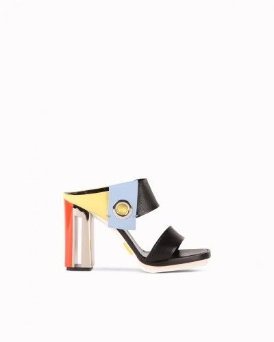 Multi-coloured sandals with eyelet detail #N21 #mules #sandals #colourblock #fashion #style #stylish #love #socialenvy #me #cute #photooftheday #beauty #beautiful #instagood #instafashion #pretty #girl #girls #styles #outfit #shopping
