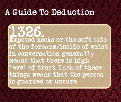 a guide to deduction 1326. Conversation. -SH