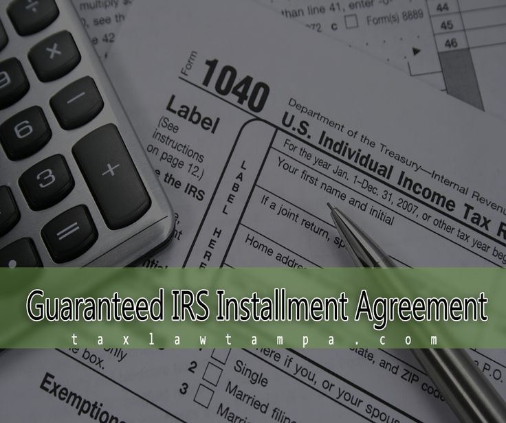 There are several advantages in entering a guaranteed IRS installment agreement – especially p if you have a tax liability with the IRS.