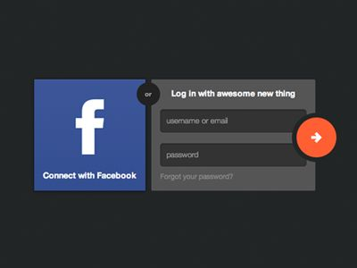 """Facebook and?   I'm not a fan of the left to right placement of OAuth and general site logins because I'm concerned it implies to novice web users that they have to do both and, in this case, they may begin with filling out the form fields because it's asking them to. Also, does any general user know what """"Connect with Facebook"""" means?"""