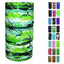 ebos Multifunktionstuch, Schlauchtuch, Multischal, Bandana, Halstuch, Kopftuch in verschiedenen Farben/Designs