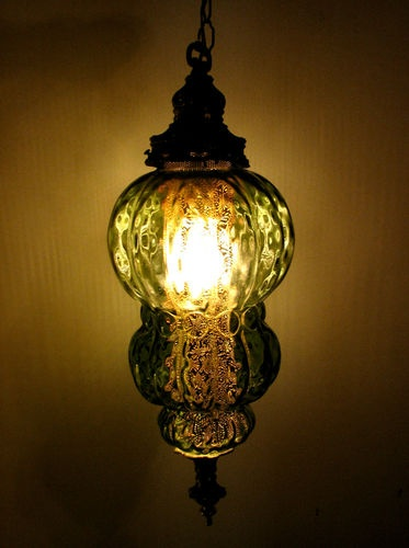 Another wonderful vintage swag lamp