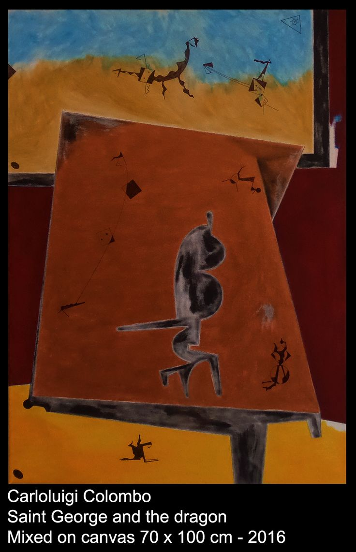 Painting, esorinism, art, saint George, dragon, Riolo Terme, italy, italian, Faenza, Carloluigi Colombo