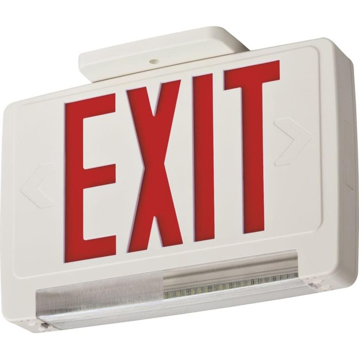 Lithonia Lighting Contractor Select Thermoplastic LED Integrated Emergency Exit Sign/Fixture Unit Combo