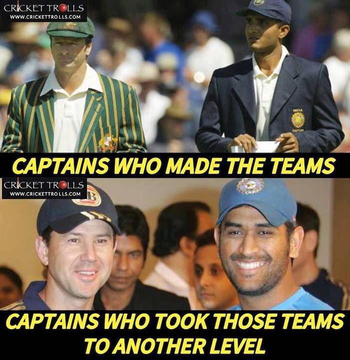 4 Legendary Captains: Steve Waugh Sourav Ganguly Official Ricky Ponting & MS Dhoni - facebook.com/MyCricketTrolls
