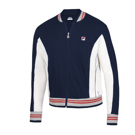Look familiar? Fila revives their classic style with this Vintage Jacket, as seen on Bjorn Borg at Wimbledon, 1979.