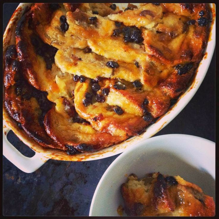 Hot Cross Bun Bread and Butter Pudding - Looking forward to making this for the family over Easter