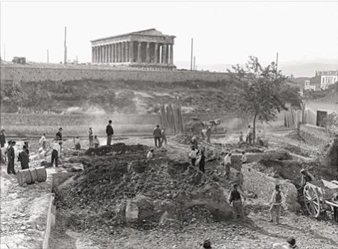 25 Mαΐου 1931, πρώτη μέρα των ανασκαφών στο δυτικό τμήμα της Αρχαίας Αγοράς. © Αμερικανική Σχολή Κλασικών Σπουδών, Αρχείο Ανασκαφών Αγοράς