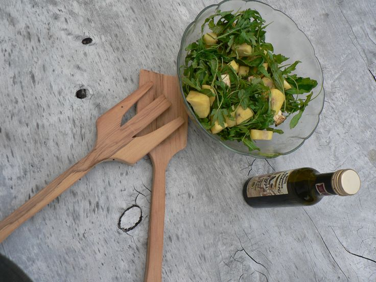 Salad Servers made from reclaimed Rimu. Perfect for summer BBQs. Ayke & WhatNot