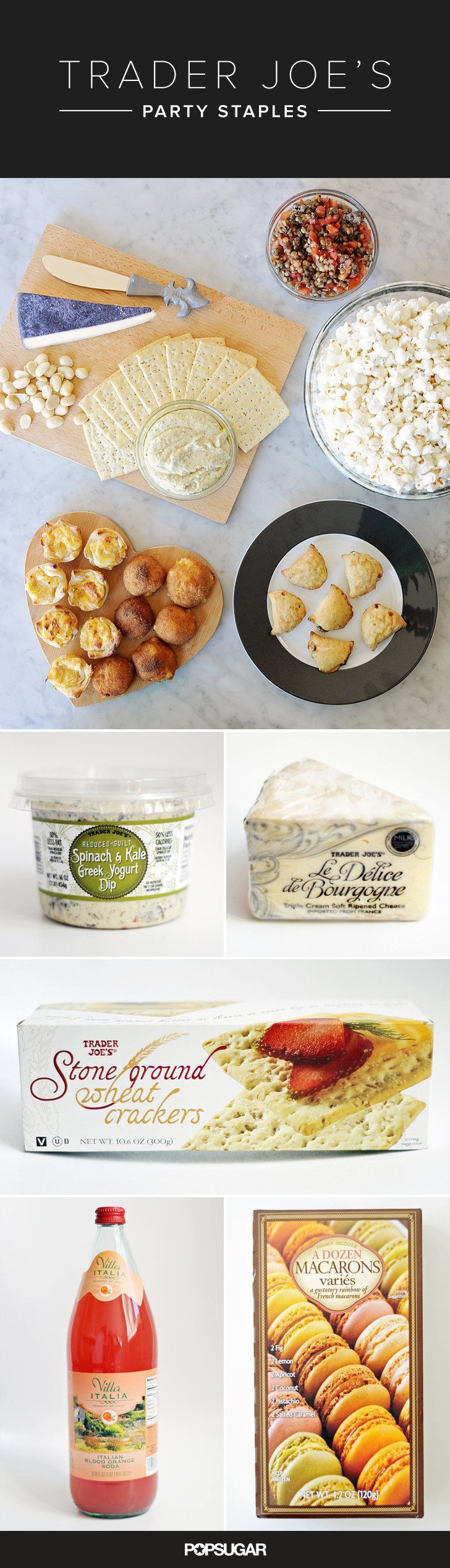 Trader Joe's staples for busy hosts