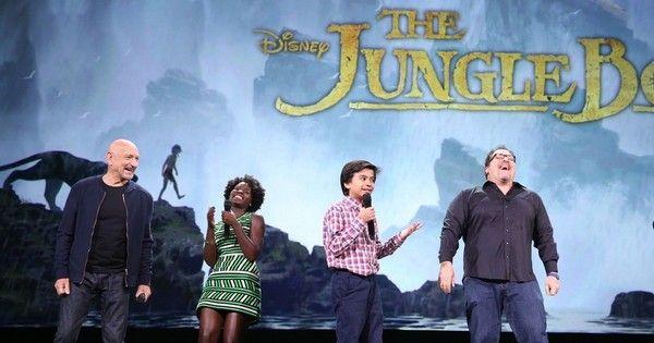 Director Jon Favreau discusses his upcoming adaptation 'The Jungle Book' with stars Neel Sethi, Ben Kingsley and Lupita Nyong'o at #D23. #Disney