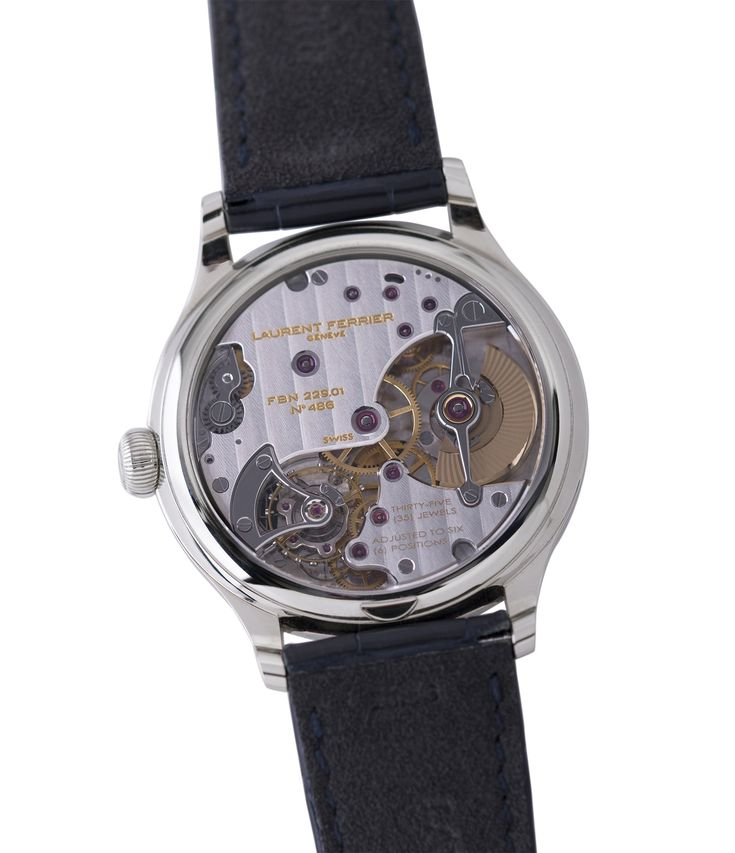 automatic Laurent Ferrier Galet Micro-Rotor FBN 230.02 Enamel dial steel watch at A Collected Man London