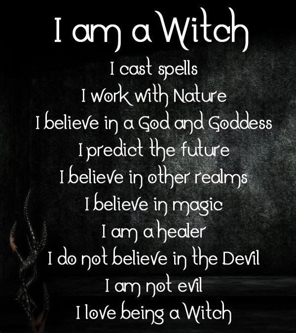 "Wiccateachings: ""I Love Being A Witch. """