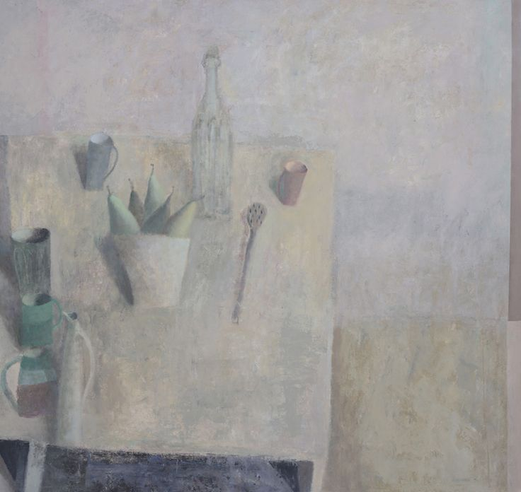 Nicholas Turner 'Cups and Pears', oil on board