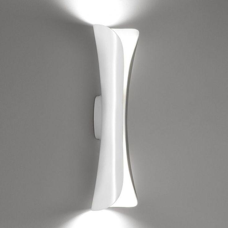 Artemide - Cadmo Parete Wall Lamp - white/white/steel/lacquered/LxWxH 13x13x54cm