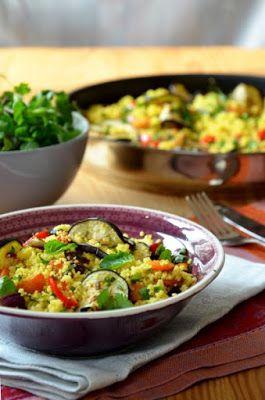 Kuszkusz sült zöldségekkel Tipikus Flammeres: Rohanó június
