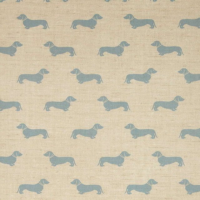 BuyEmily Bond Dachshund PVC Tablecloth Fabric, Blue Online At Johnlewis.com