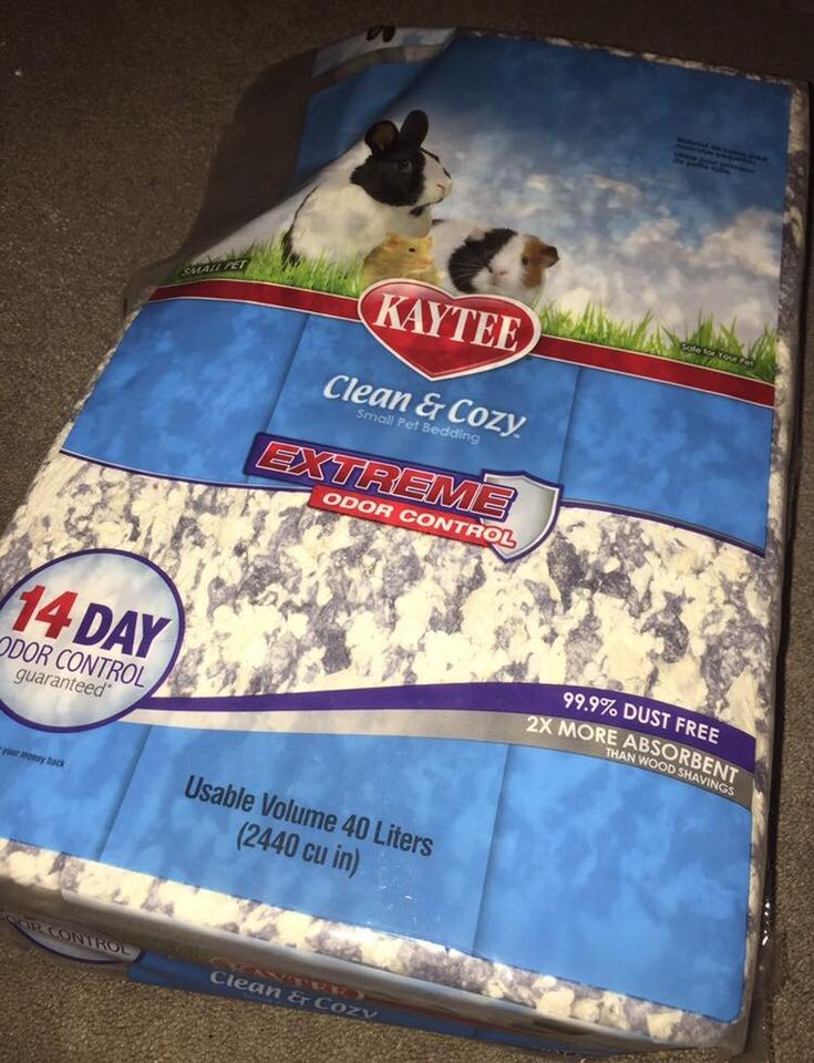 ad Kaytee Clean & Cozy Extreme Odor Control bedding has