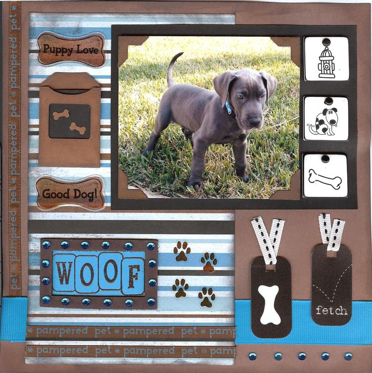 chrom hearts Dog scrapbook layout