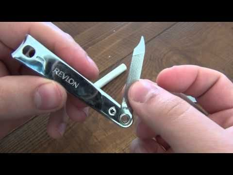 How To : Sharpen Nail Clippers & Take Them Apart - YouTube