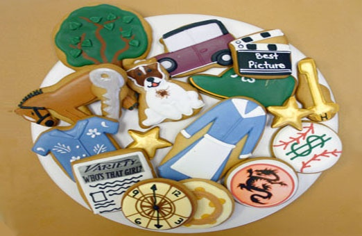 Oscar Cookies by Eleni's New York (my inspiration for learning how to decorate cookies)