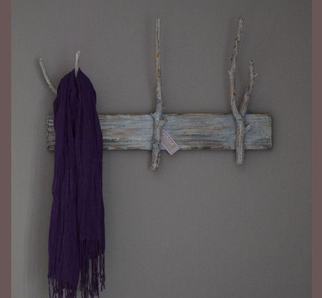 appendiabiti da parete in legno di pesco